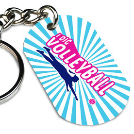 Volleyball Printed Dog Tag Keychain I Dig Volleyball