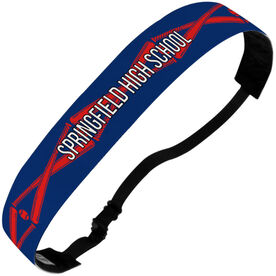 Baseball Julibands No-Slip Headbands - Personalized Crossed Bats Stripe Pattern