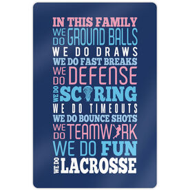 "Girls Lacrosse 18"" X 12"" Aluminum Room Sign We Do Lacrosse"