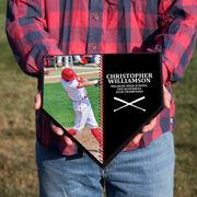 Baseball Home Plate Plaque - Player Photo Stitch