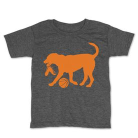 Basketball Toddler Short Sleeve Tee - Baxter The Basketball Dog