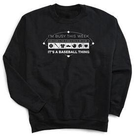 Baseball Crew Neck Sweatshirt - 24-7 Baseball