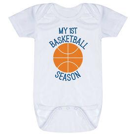 Basketball Baby One-Piece - My First Basketball Season