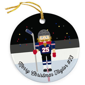 Hockey Porcelain Ornament Nutcracker