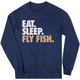 Fly Fishing T-Shirt Long Sleeve Eat. Sleep. Fly Fish.