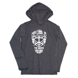Women's Hockey Lightweight Hoodie - My Goal Is To Deny Yours Hockey Mask