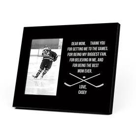 Hockey Photo Frame - Dear Mom Heart