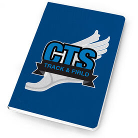 Track & Field Notebook Custom Team Logo