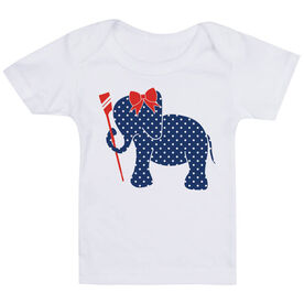 Crew Baby T-Shirt - Crew Elephant with Bow