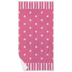 Softball Premium Beach Towel - Polka Dots