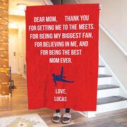 Gymnastics Premium Blanket - Dear Mom Heart (Guy Gymnast)