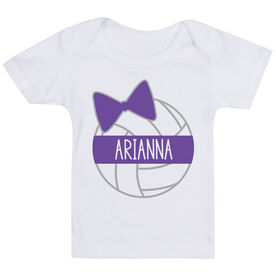 Volleyball Baby T-Shirt - Personalized Volleyball Bow