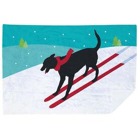 Skiing Premium Blanket - Vintage Dog