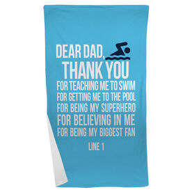 Swimming Beach Towel Dear Dad