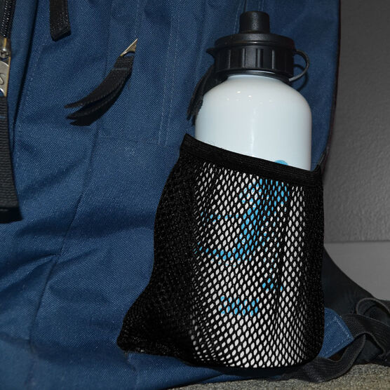 Guys Lacrosse 20 oz. Stainless Steel Water Bottle - Lacrosse Player Silhouette