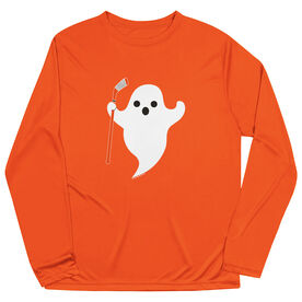 Hockey Long Sleeve Performance Tee - Hockey Ghost