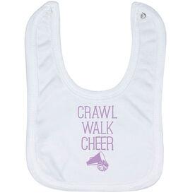 Cheerleading Baby Bib - Crawl Walk Cheer