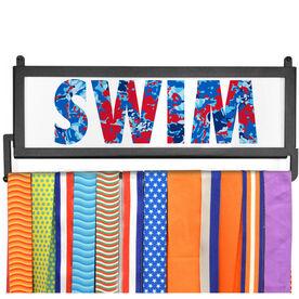 AthletesWALL Medal Display - Floral Swim