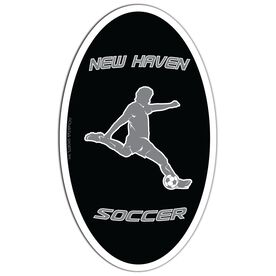 Soccer Oval Car Magnet Personalized Guy