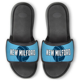 Volleyball Repwell® Slide Sandals - Volleyball with Text