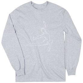 Gymnastics Long Sleeve T-Shirt - Gymnast Sketch