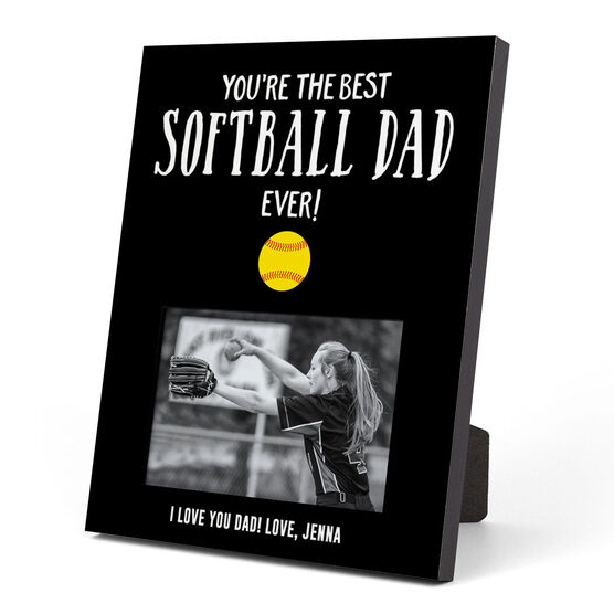 Softball Photo Frame - You're The Best Dad Ever
