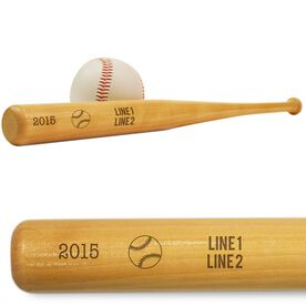 Team Name, Season and Date Mini Engraved Baseball Bat