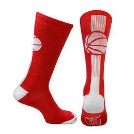 Basketball Woven Mid Calf Socks - Superelite (Red/White)