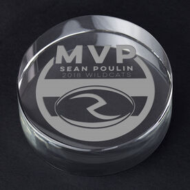 Rugby Personalized Engraved Crystal Gift - MVP Award
