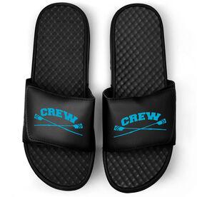 Crew Black Slide Sandals - Crossed Oars