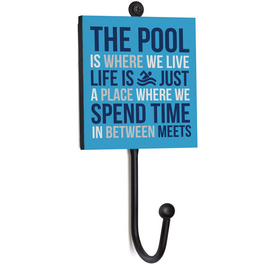 Swimming Medal Hook - The Pool Is Where We Live