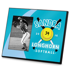 Softball Photo Frame Personalized Softball Crossed Bats