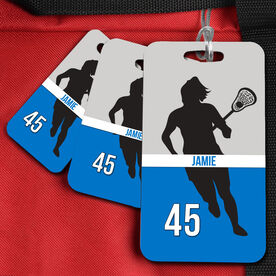 Lacrosse Bag/Luggage Tag Lacrosse Girl Name and Number