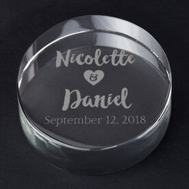Personalized Engraved Crystal Gift - Wedding