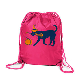 Girls Lacrosse Sport Pack Cinch Sack - Lula Witch Dog