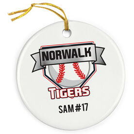 Baseball Porcelain Ornament Personalized Custom Logo