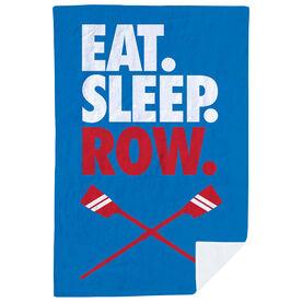 Crew Premium Blanket - Eat. Sleep. Row. Vertical