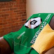 Soccer Premium Blanket - Personalized Soccer Senior
