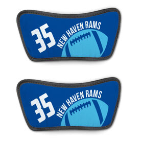 Football Repwell® Sandal Straps - Number and Personalized Ball