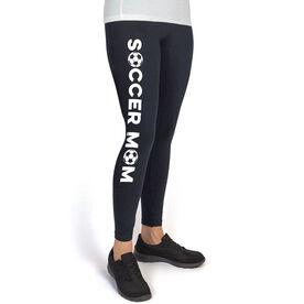 Soccer High Print Leggings - Soccer Mom