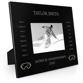 Snowboarding Engraved Picture Frame - Team Name With Roster