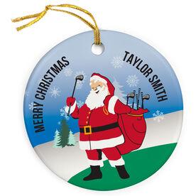 Golf Porcelain Ornament Santa Golfs