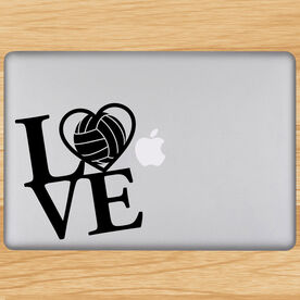 Volleyball Removable Laptop Decal Love Volleyball
