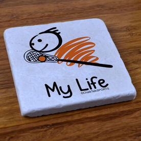 My Life Lacrosse (Male) - Stone Coaster