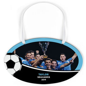 Soccer Oval Sign - Team Photo With Ball