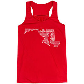 Flowy Racerback Tank Top - Maryland