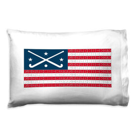 Field Hockey Pillowcase - American Flag Words