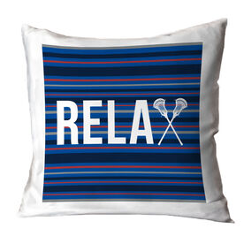 Guys Lacrosse Decorative Pillow - Relax