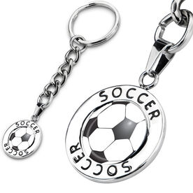 Soccer Circle Keychain Soccer Ball Graphic
