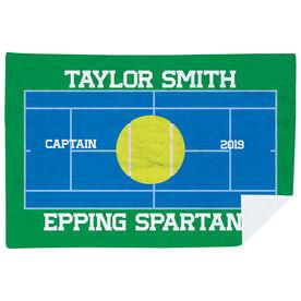 Tennis Premium Blanket - Personalized Tennis Captain